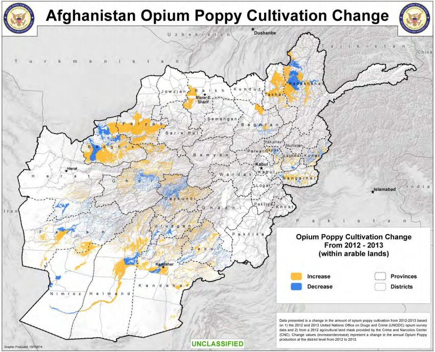 afghanistan poppy production