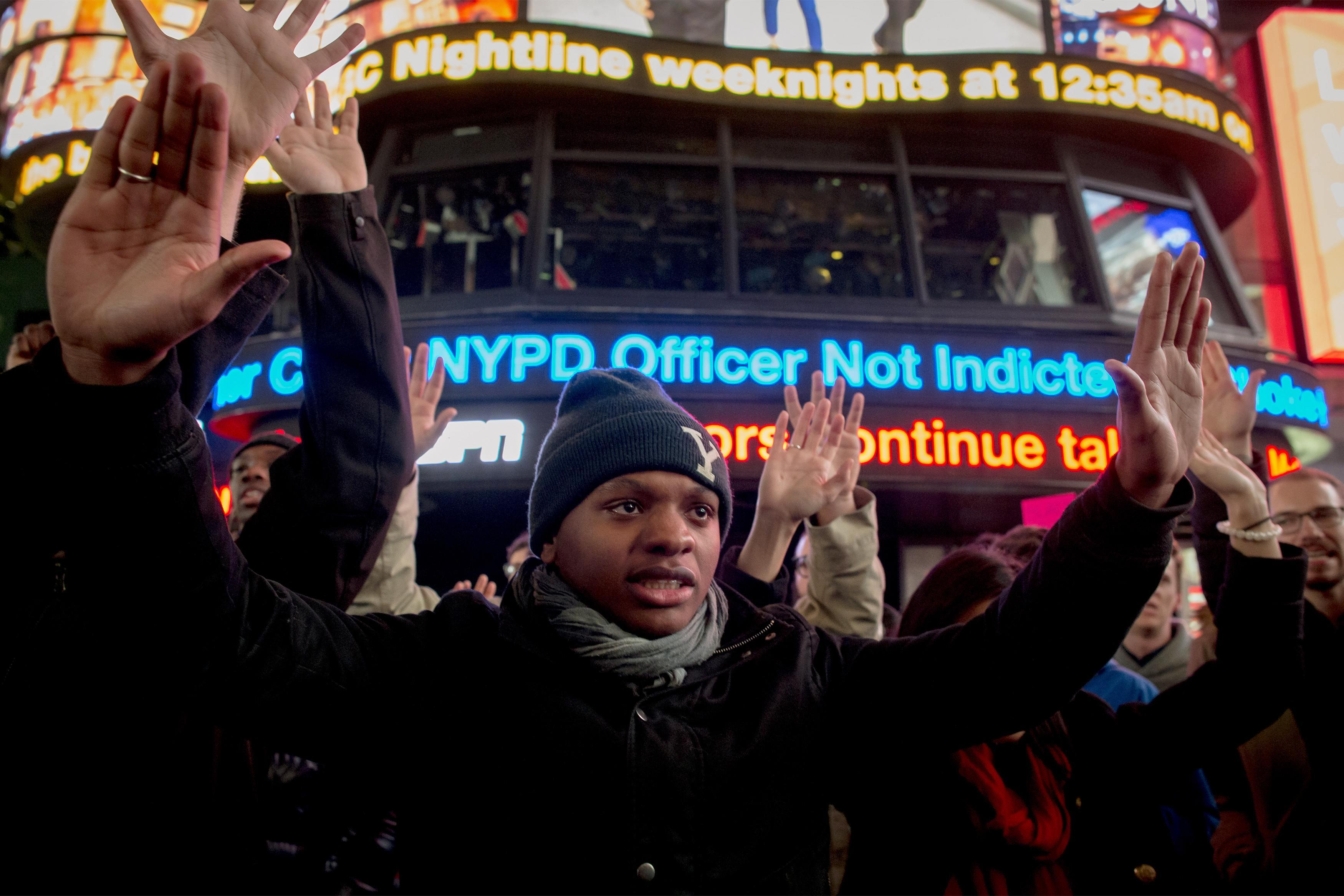 Garner demonstrators at Times Square