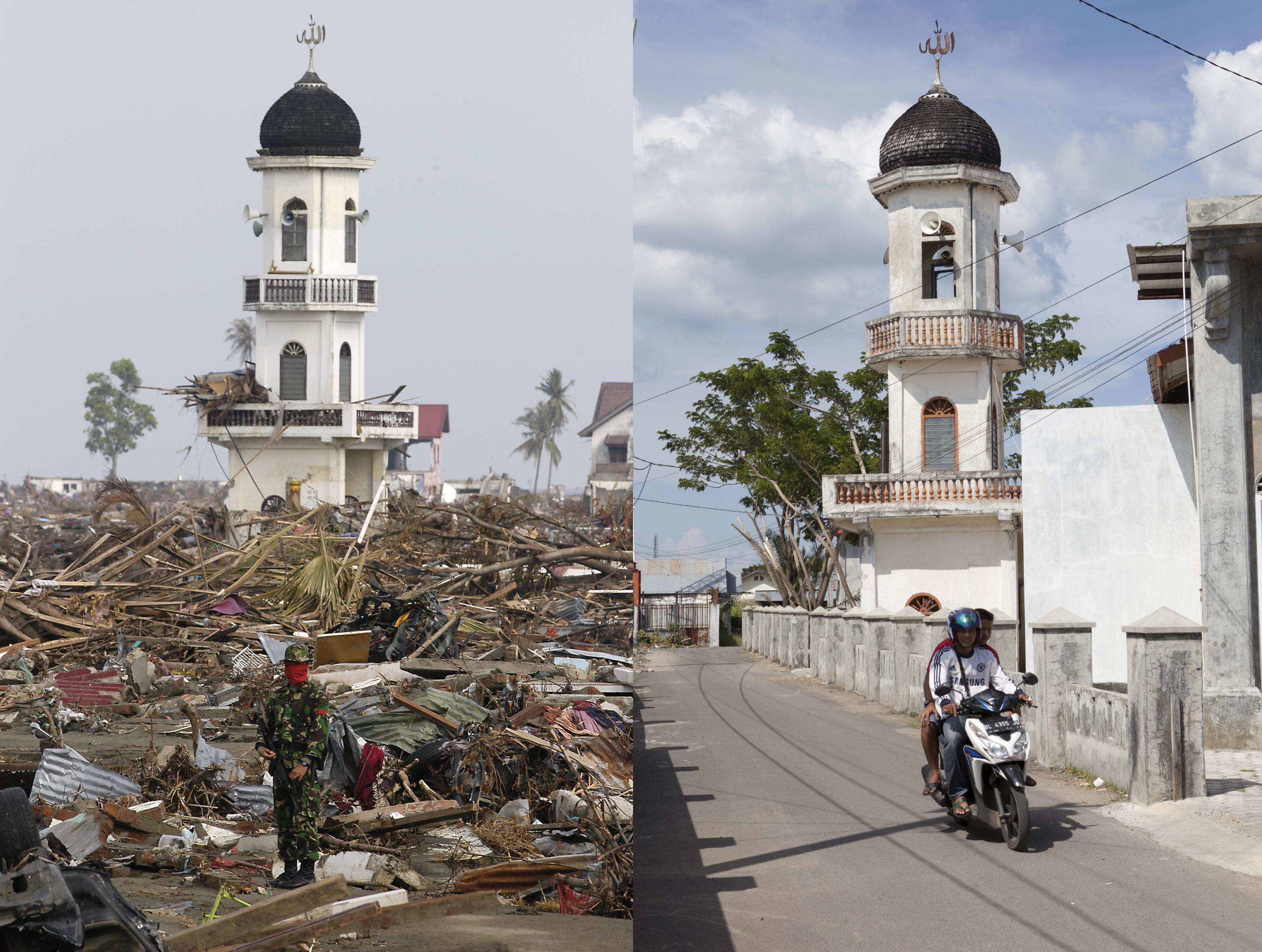 Indian Ocean Tsunami Anniversary Banda Aceh In Photos Then And Now Shows A Place Destroyed And Rebuilt