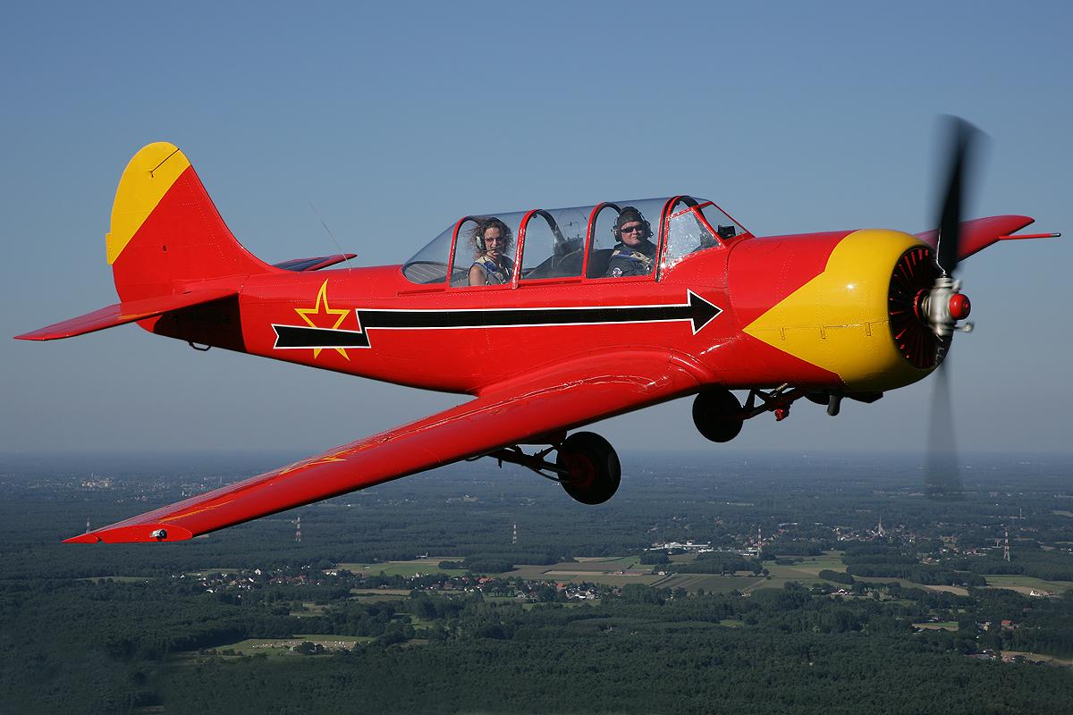 The Yak-52 two-seat plane