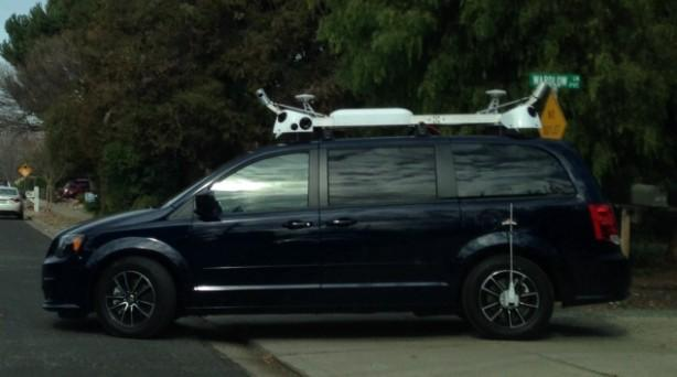 apple google maps street view self driving car