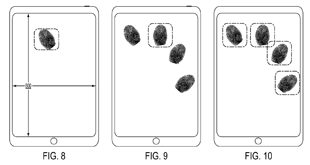 fingerprint screen apple patent