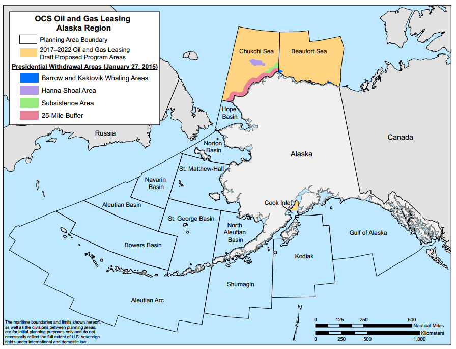 Arctic Drilling Map