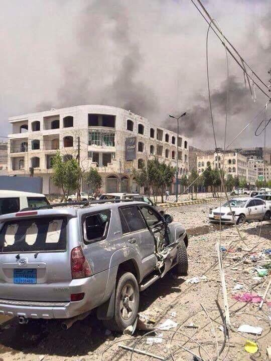 Airstrike aftermath in Yemen