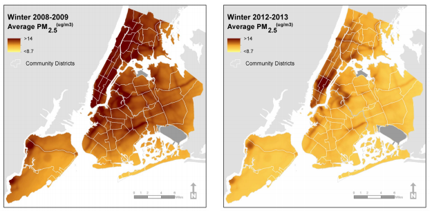 NYC Air Pollution Map