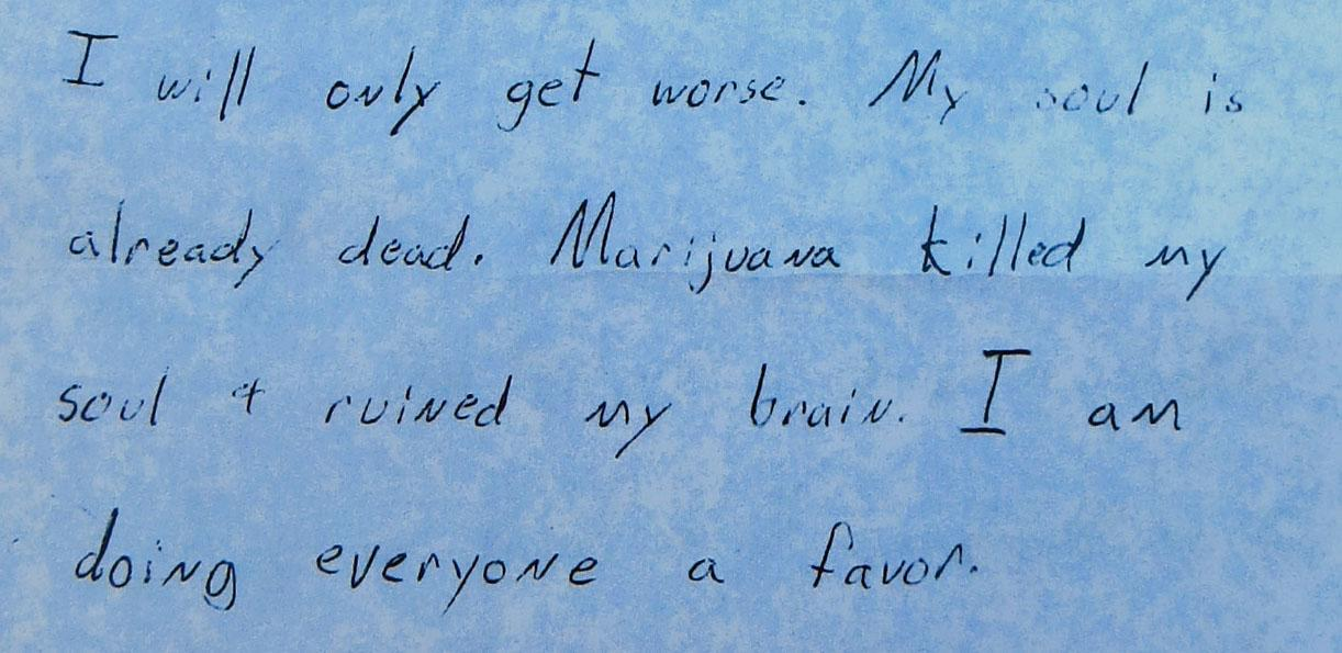 Andy Zorn suicide note
