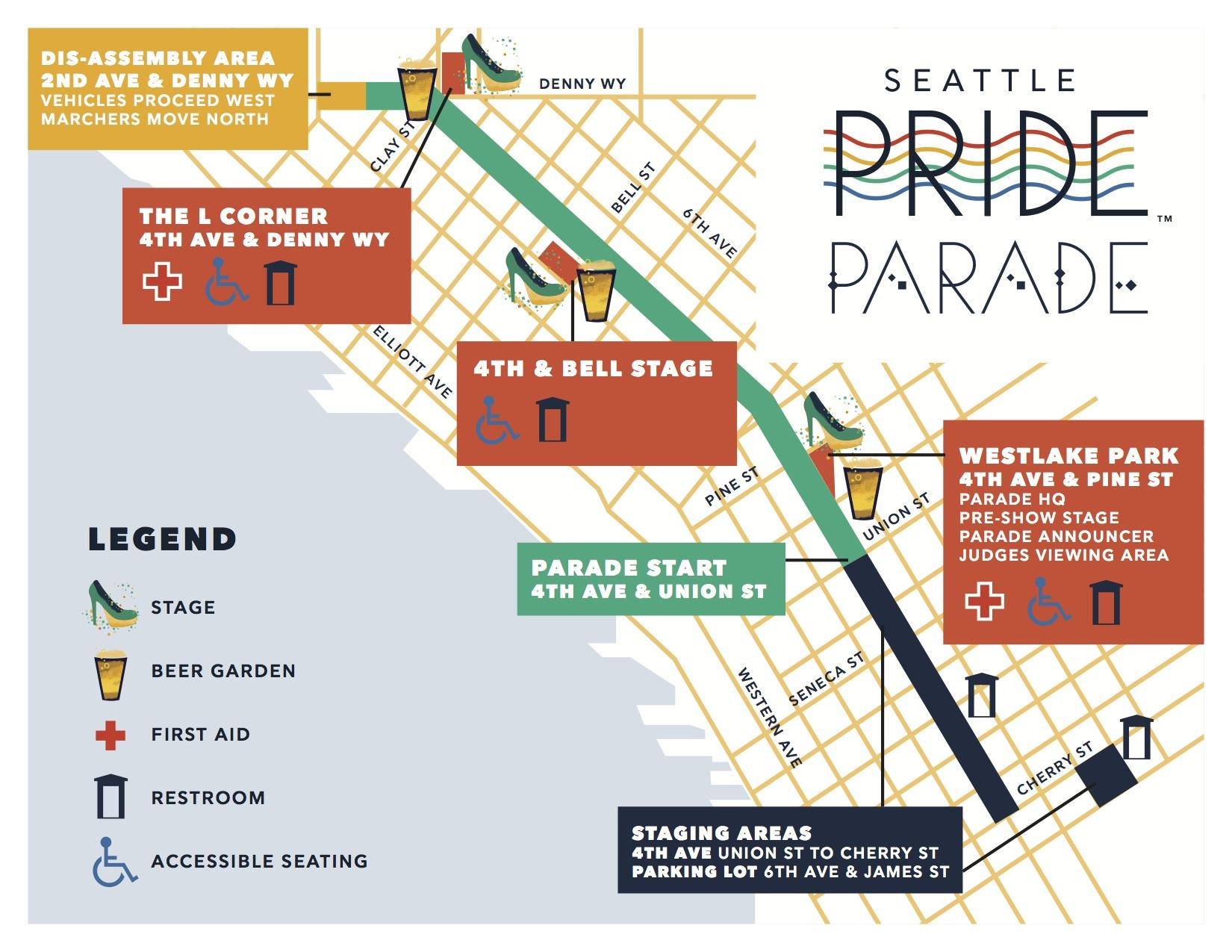Pride Parade Map