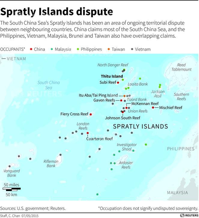 Spratly Island Map