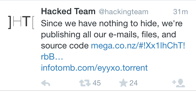 hacking team tweet