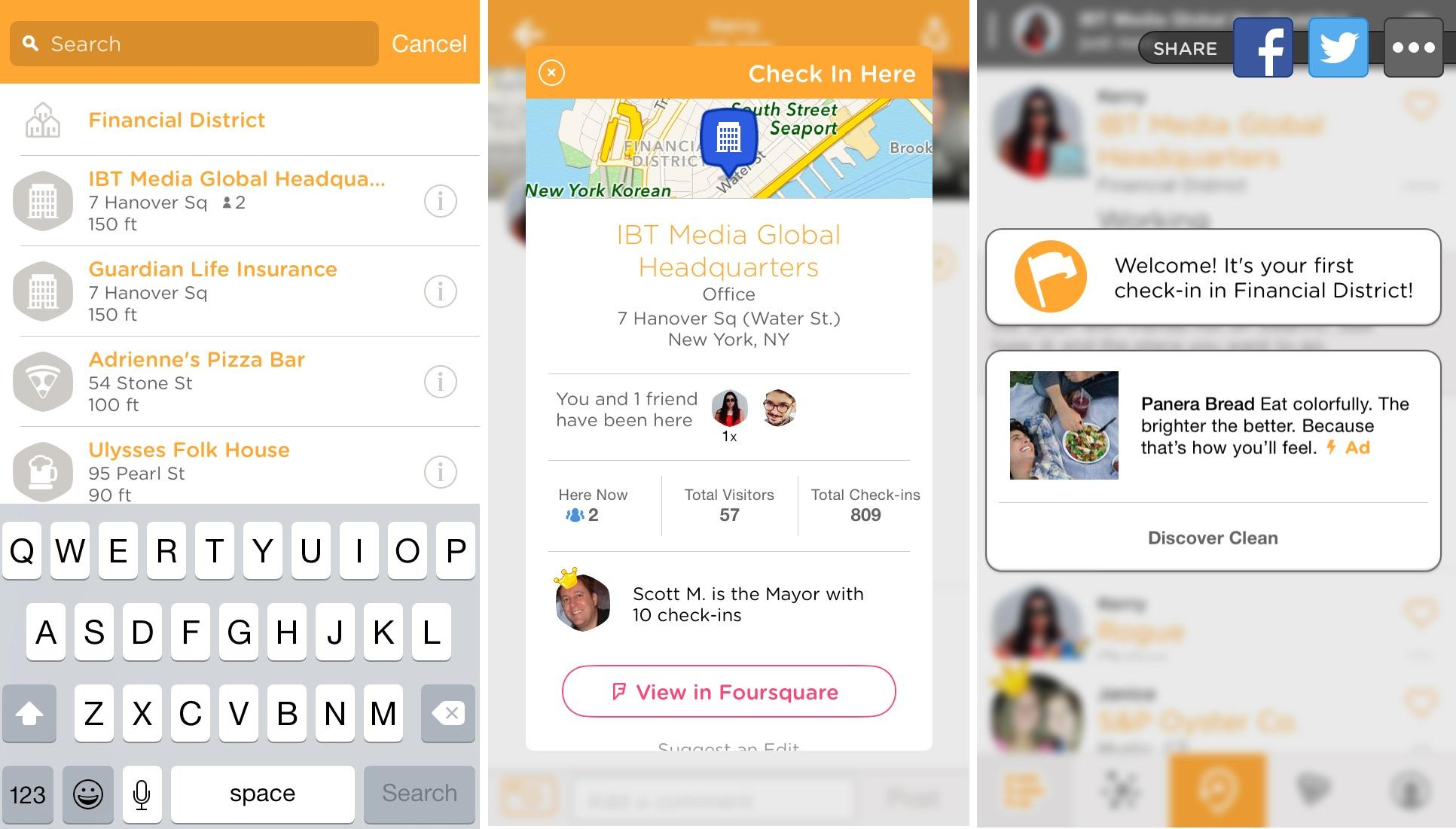 swarm check-in