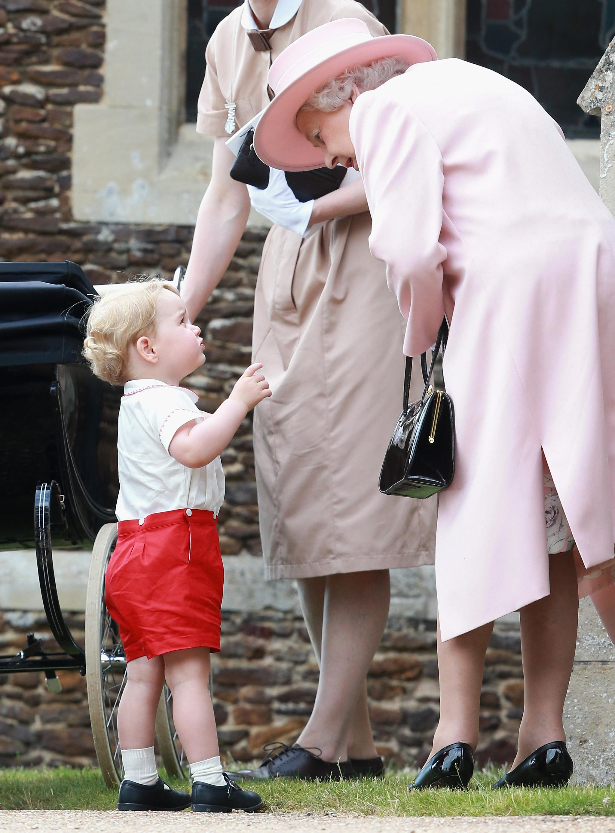 Prince George and the queen