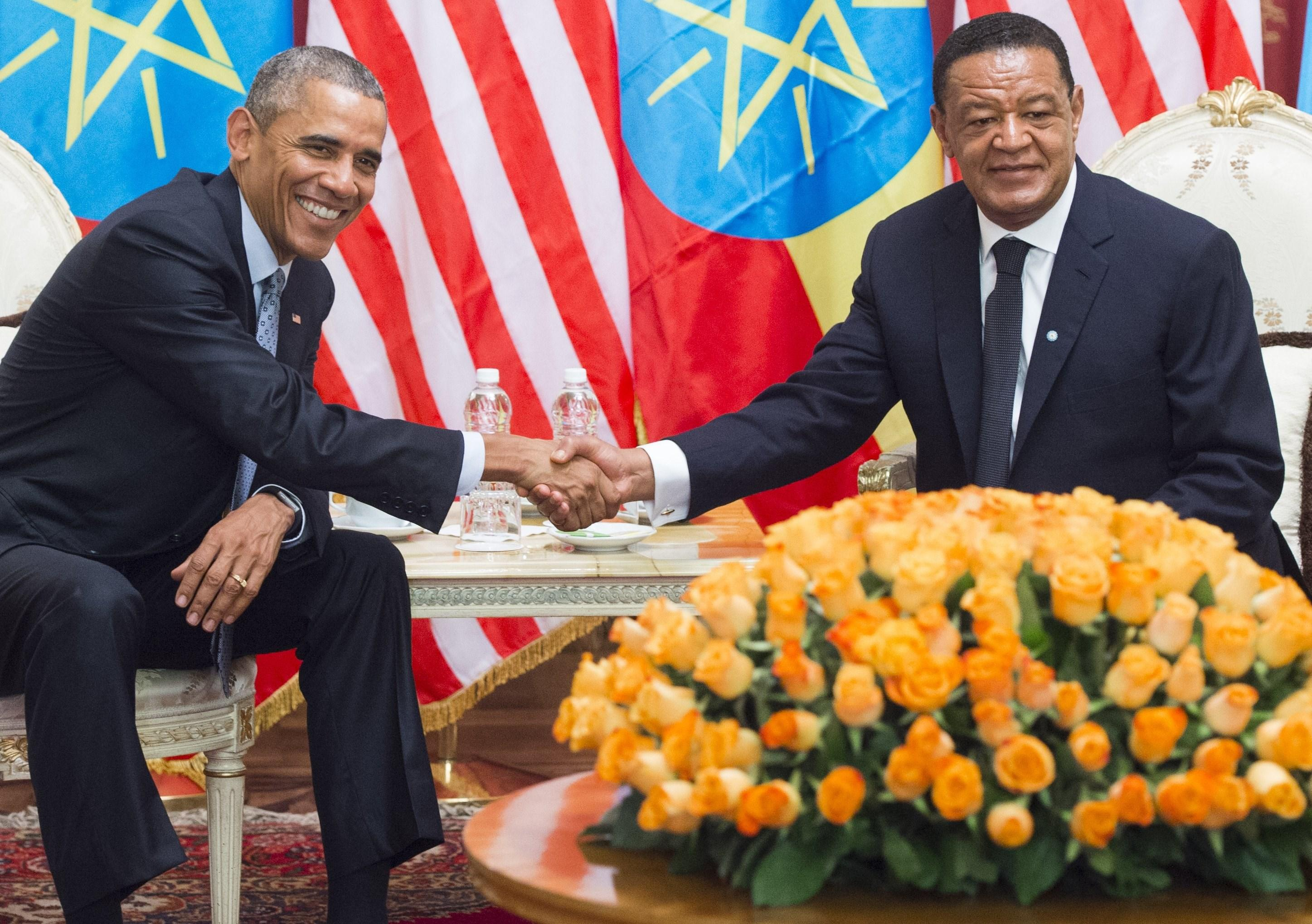 Mulatu Teshome and Barack Obama