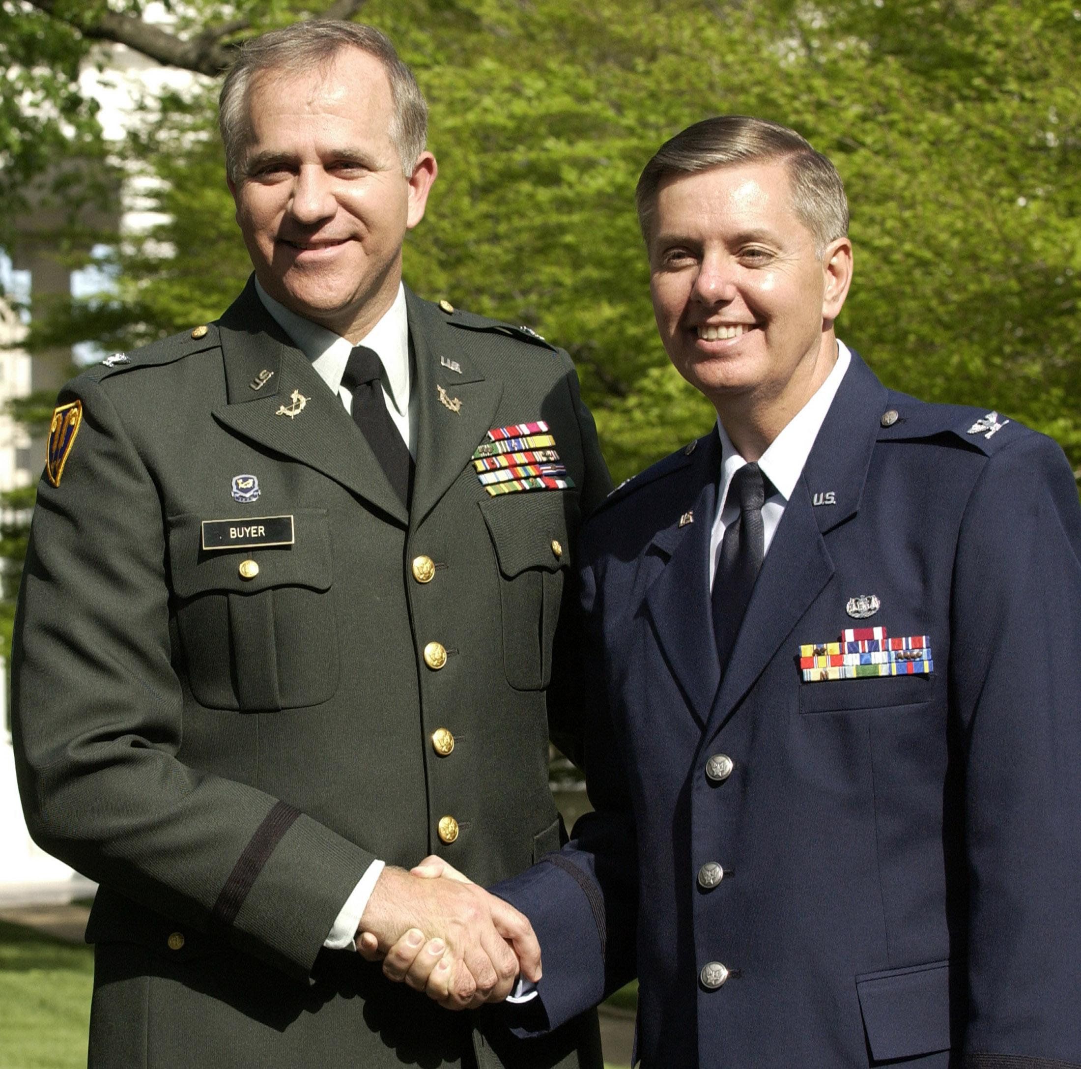 Sen. Lindsay Graham In Air Force uniform