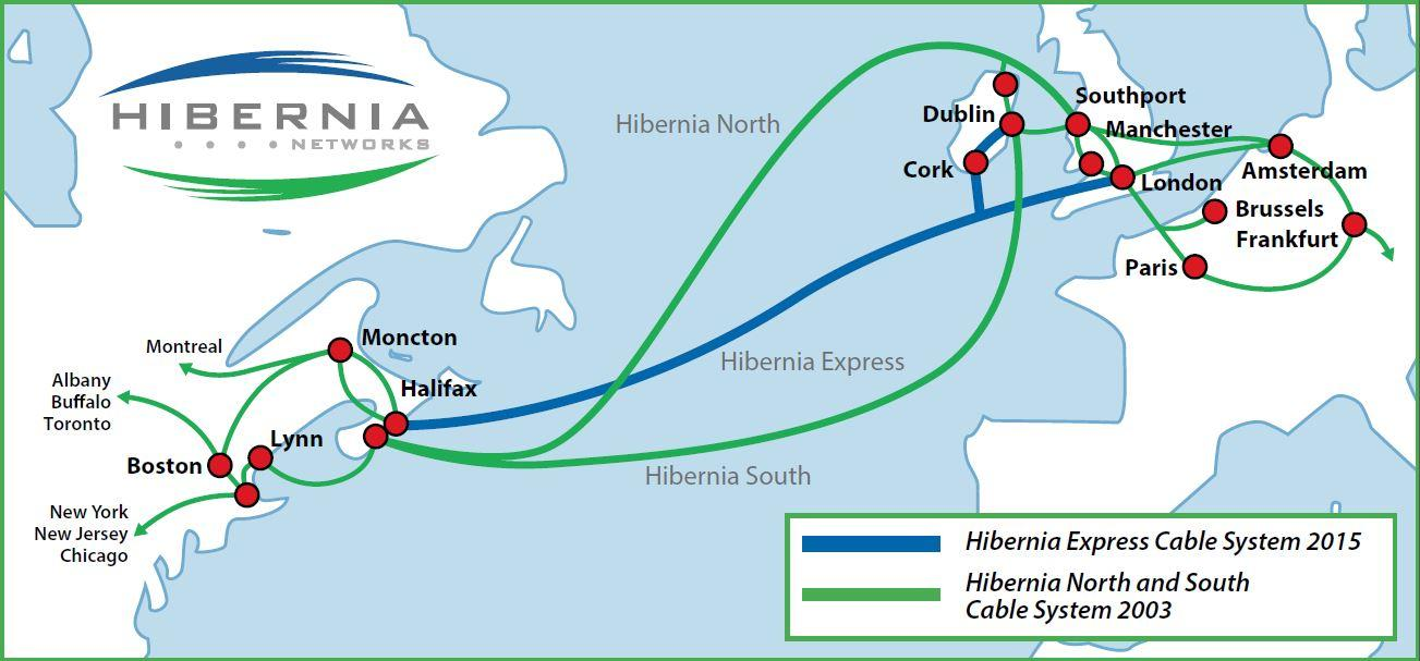Hibernia Route Map