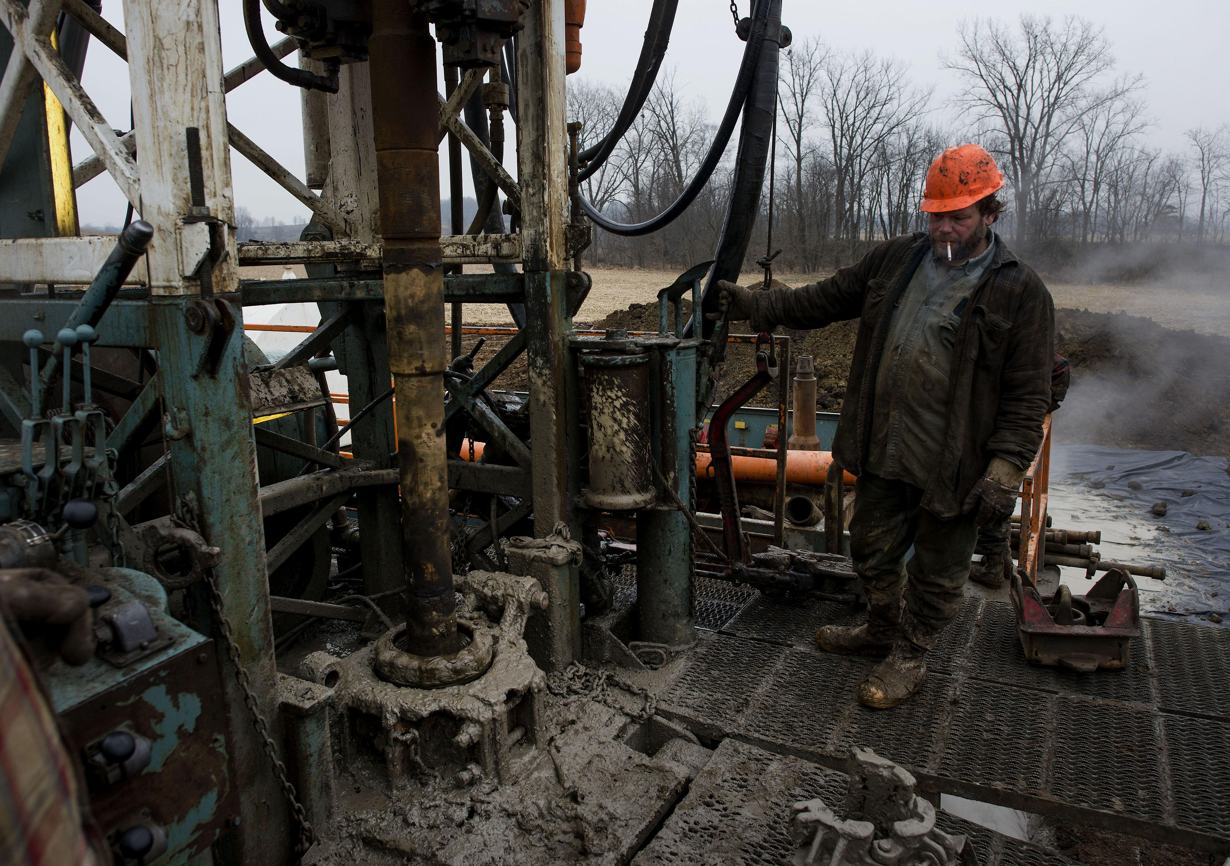 Ohio Fracking Oil Rig