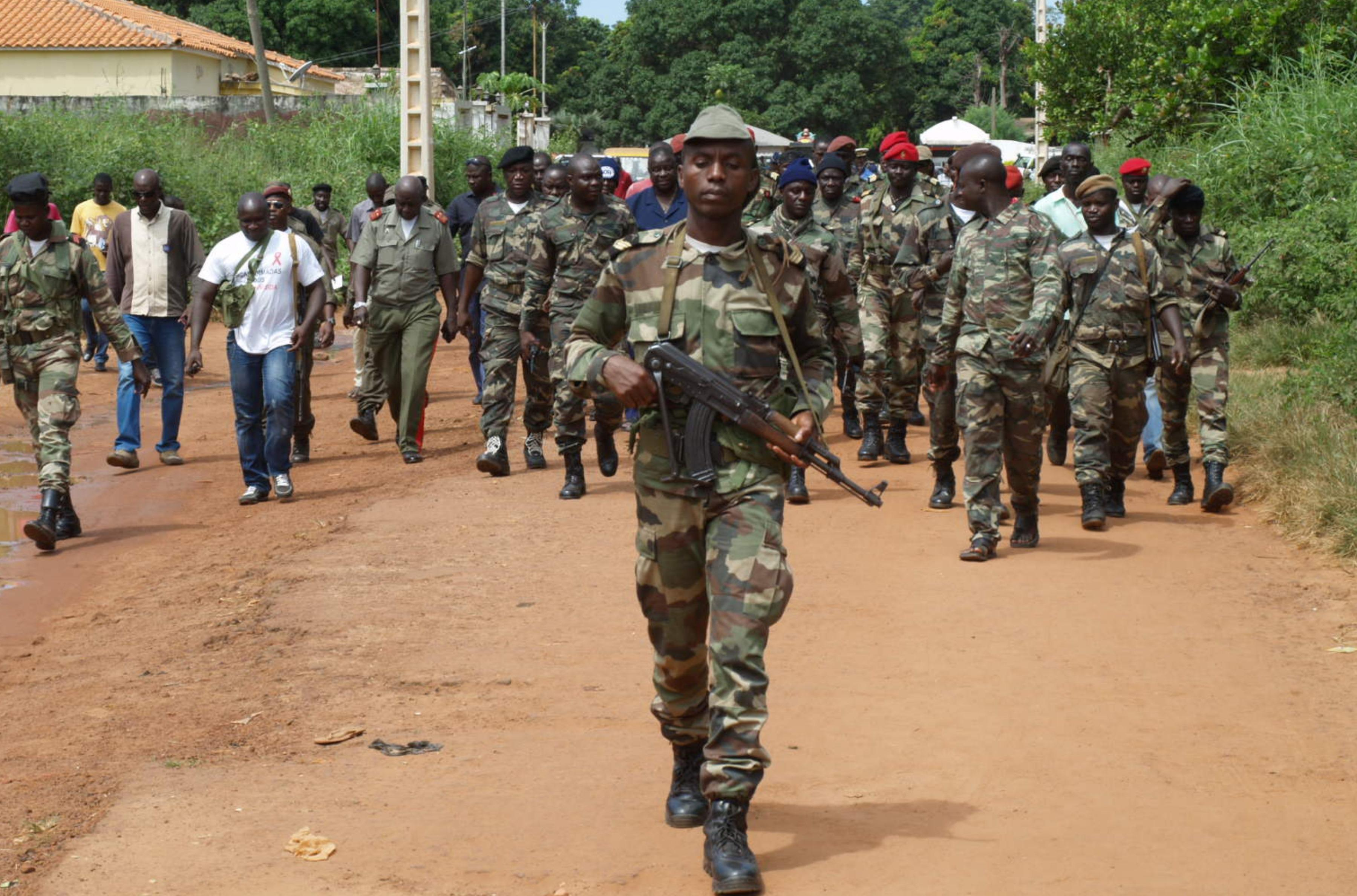Guinea-Bissau army troops