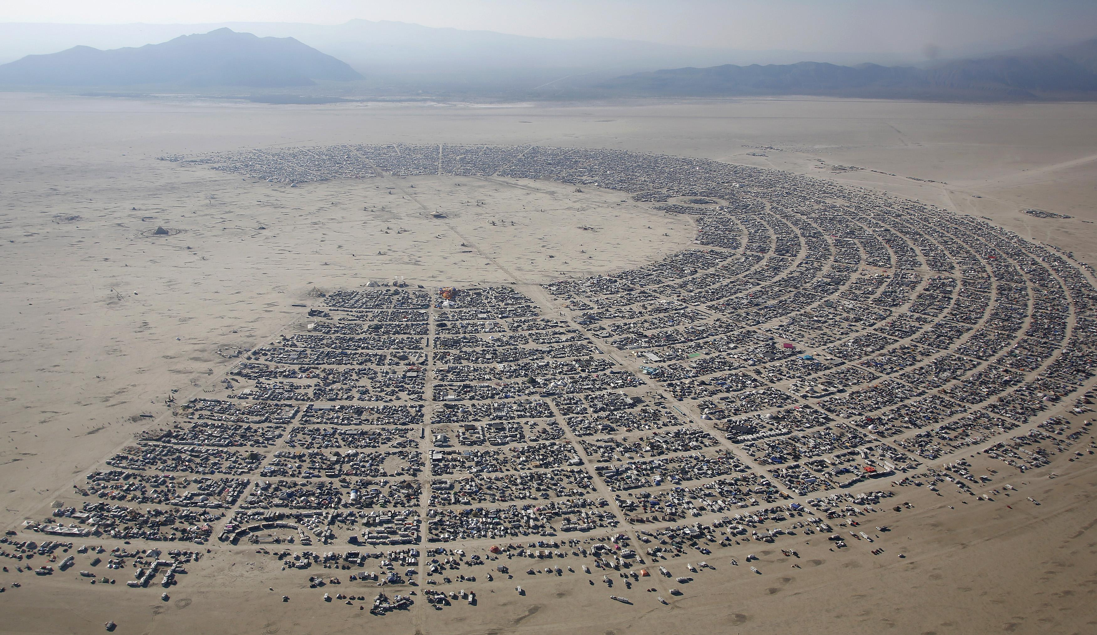 Burning Man 2013 aerial