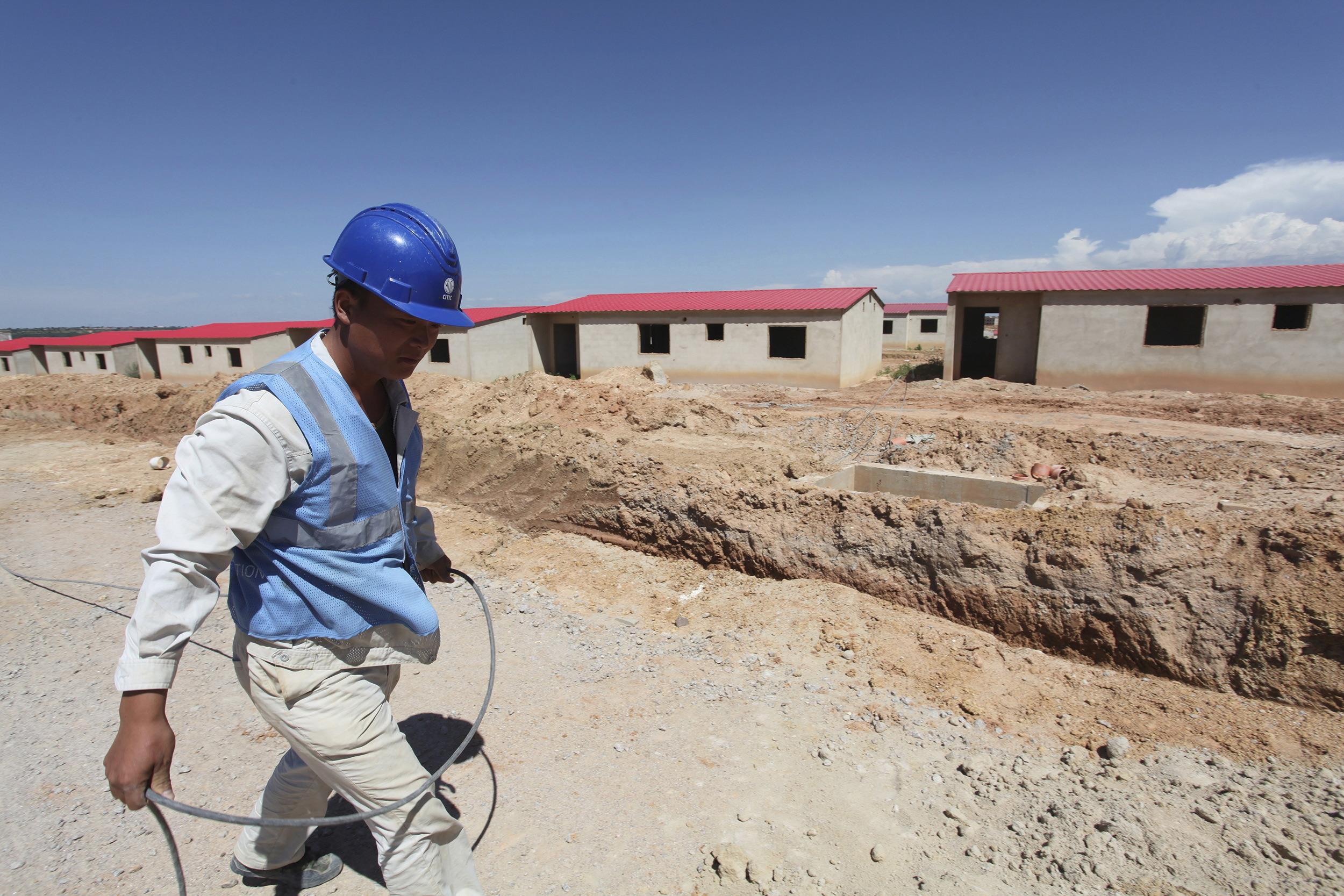 Chinese worker in Angola