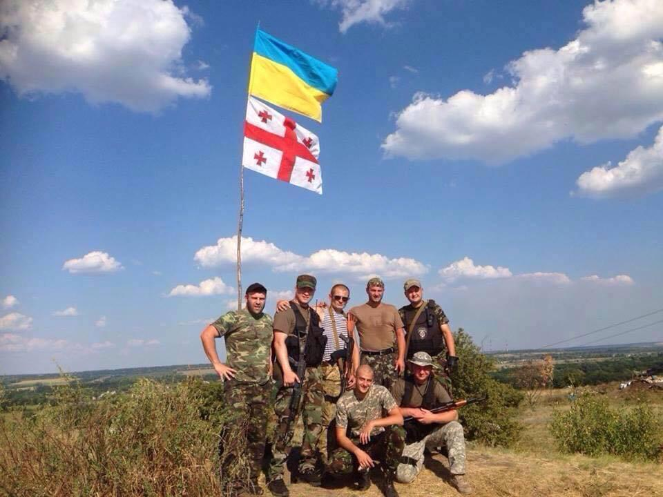 The Georgian Legion during summer in east Ukraine