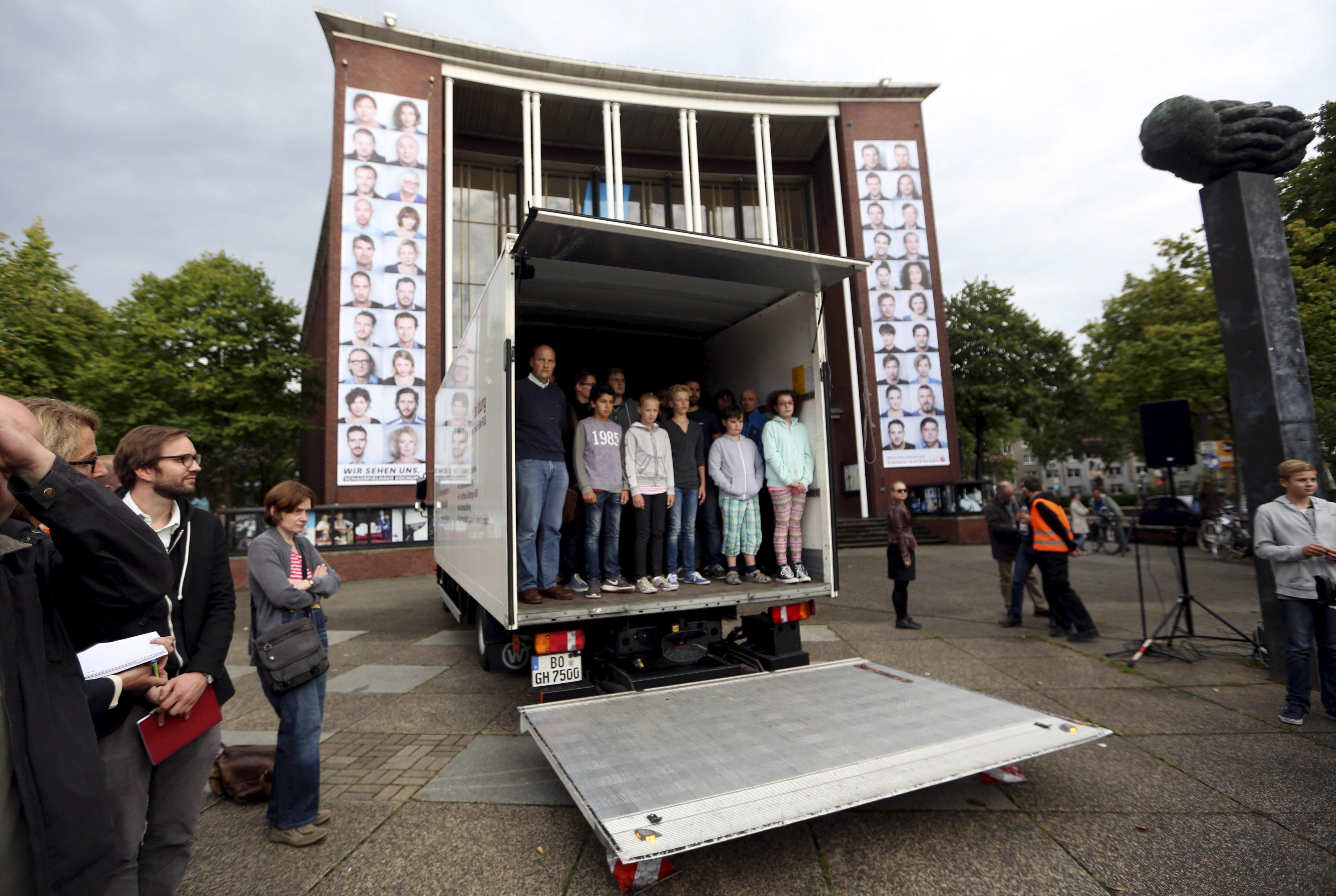 Germany Migrants Truck