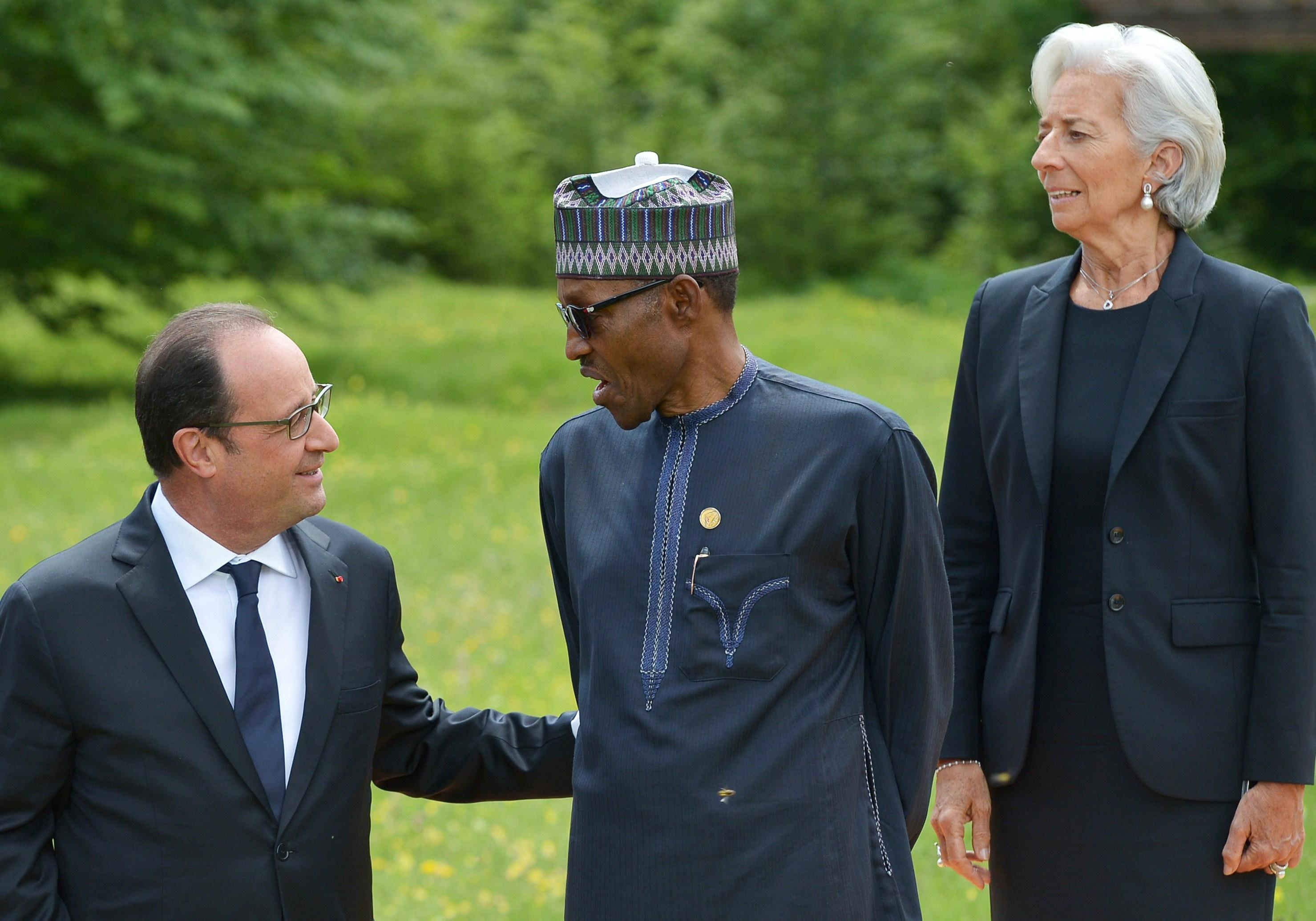 Francois Hollande and Muhammadu Buhari