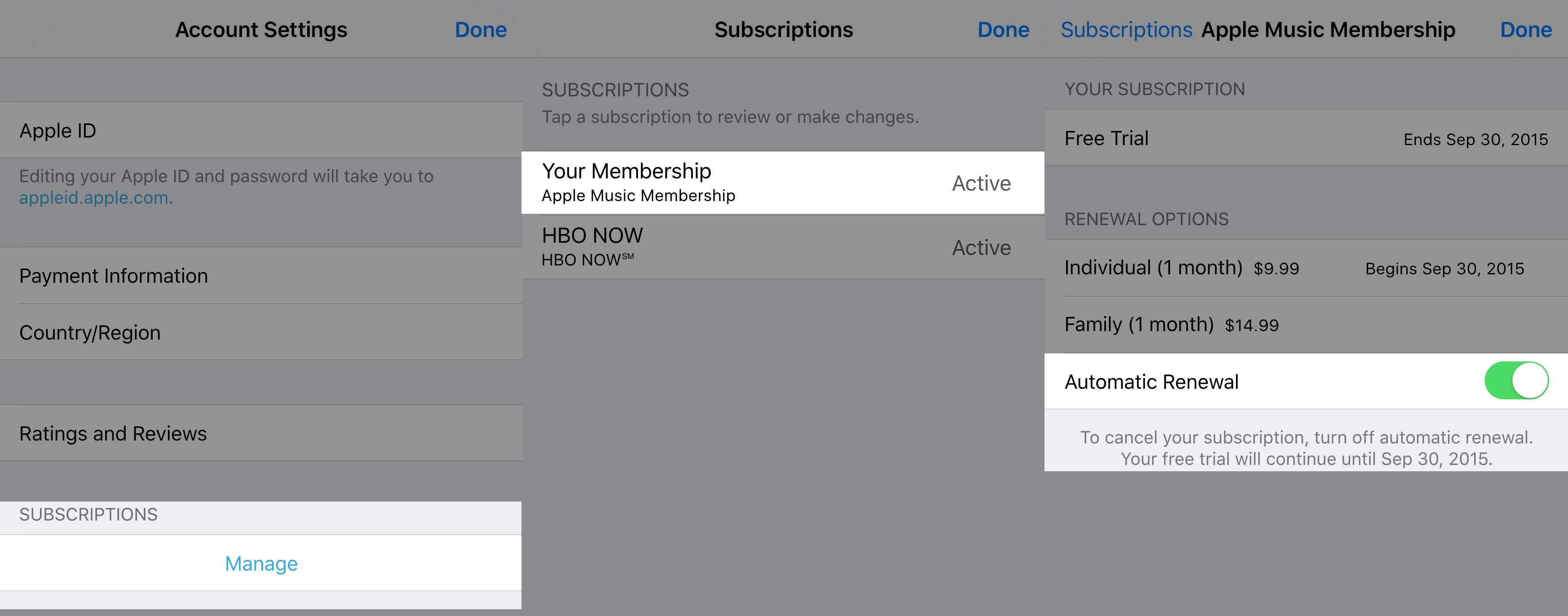 Apple Music Unsubscribe iOS 2