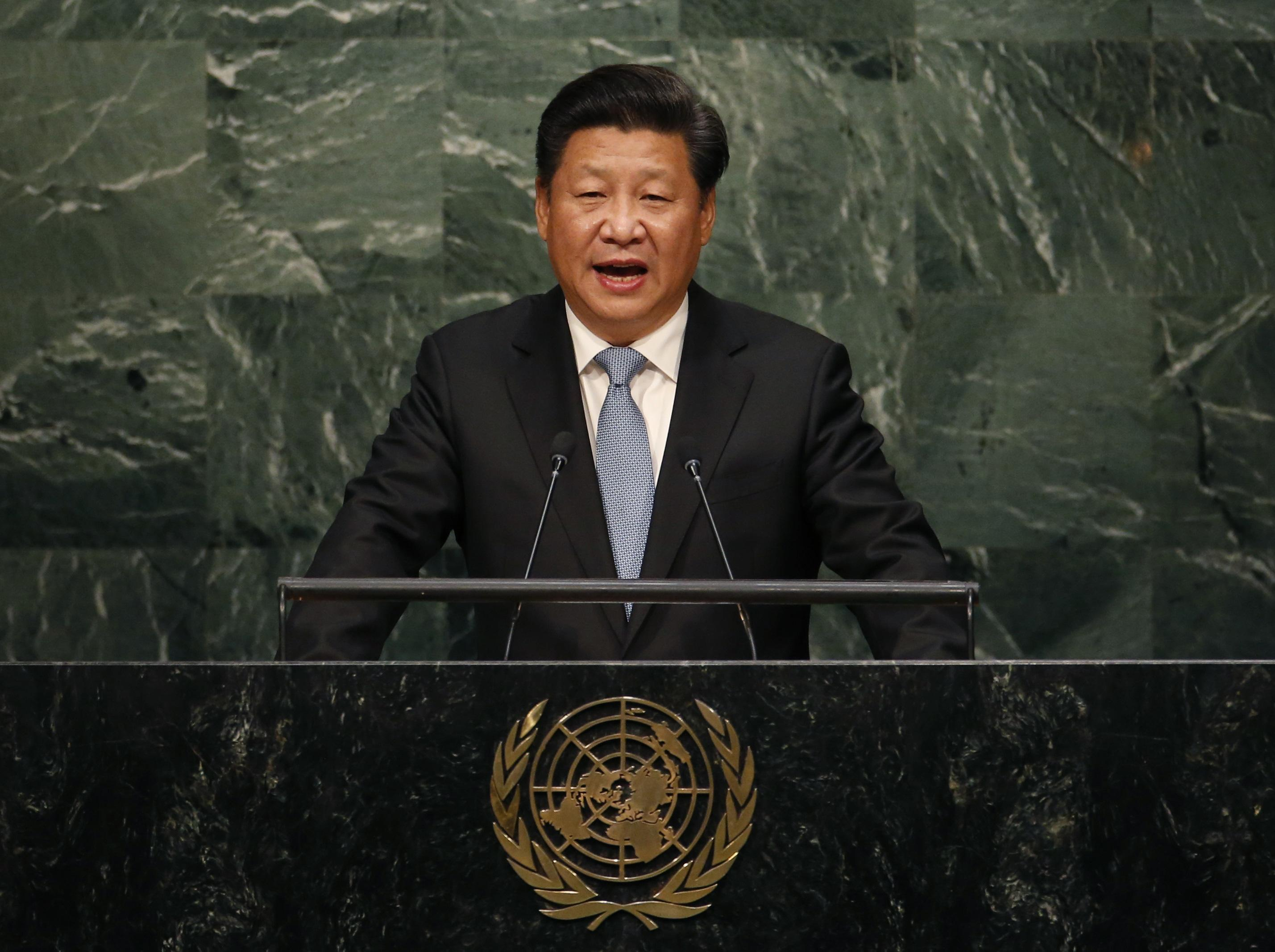 Chinese President Xi Jinping Addressing the United Nations.