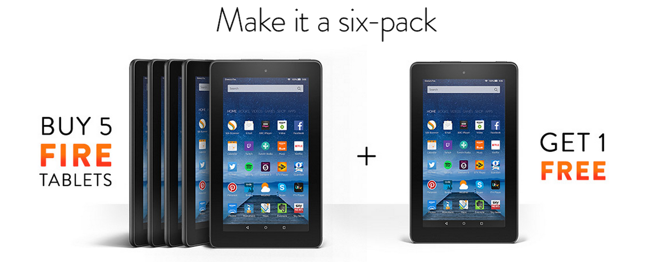 Amazon Fire $50 Tablet Six Pack