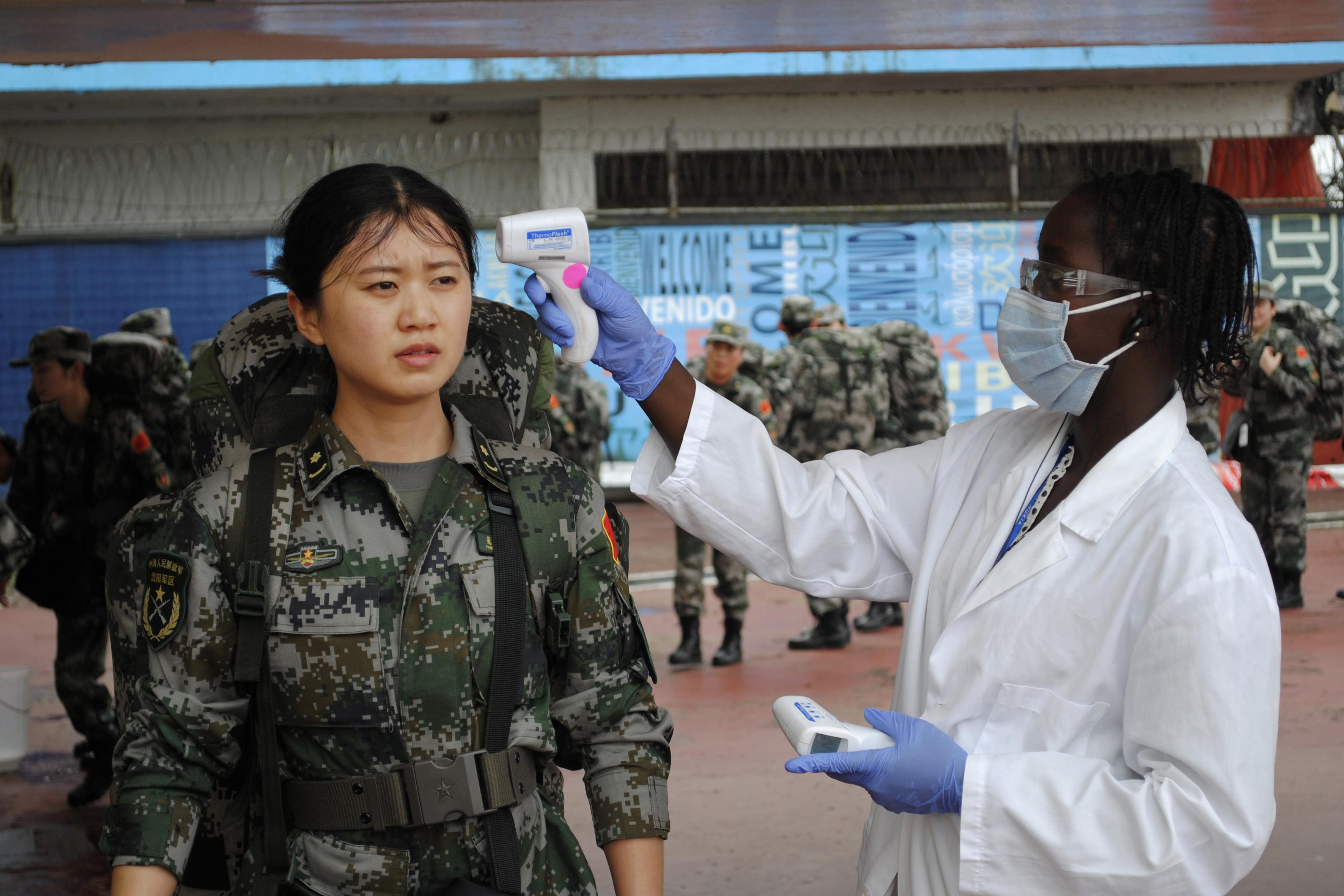 Chinese military health worker