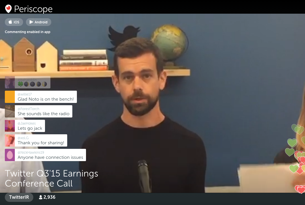 twitter earnings call