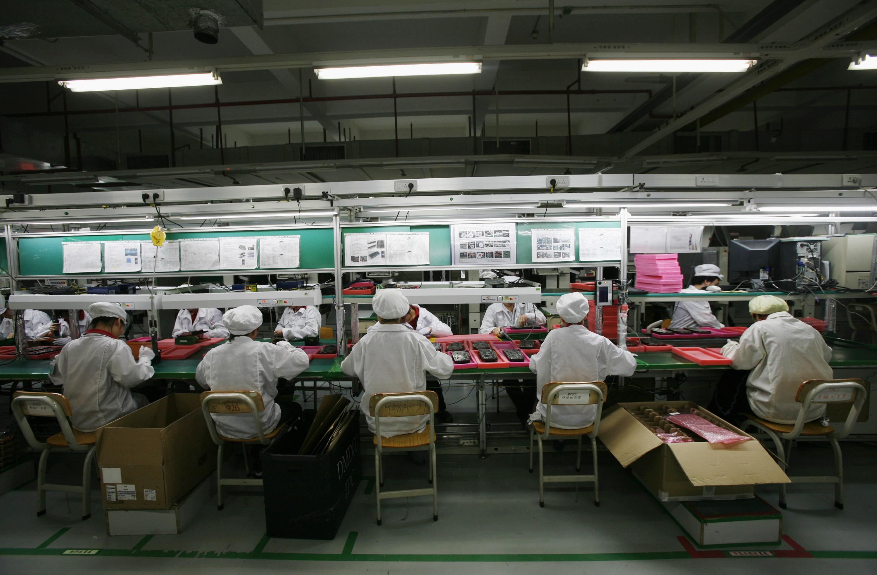 Foxconn factory workers