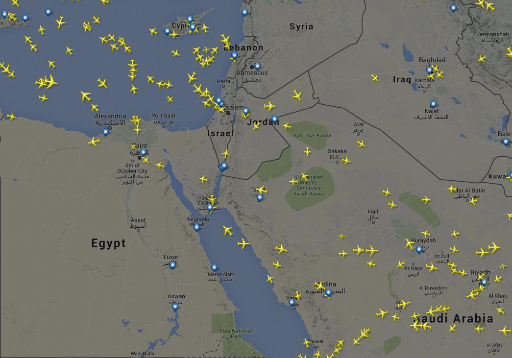 Egypt airspace