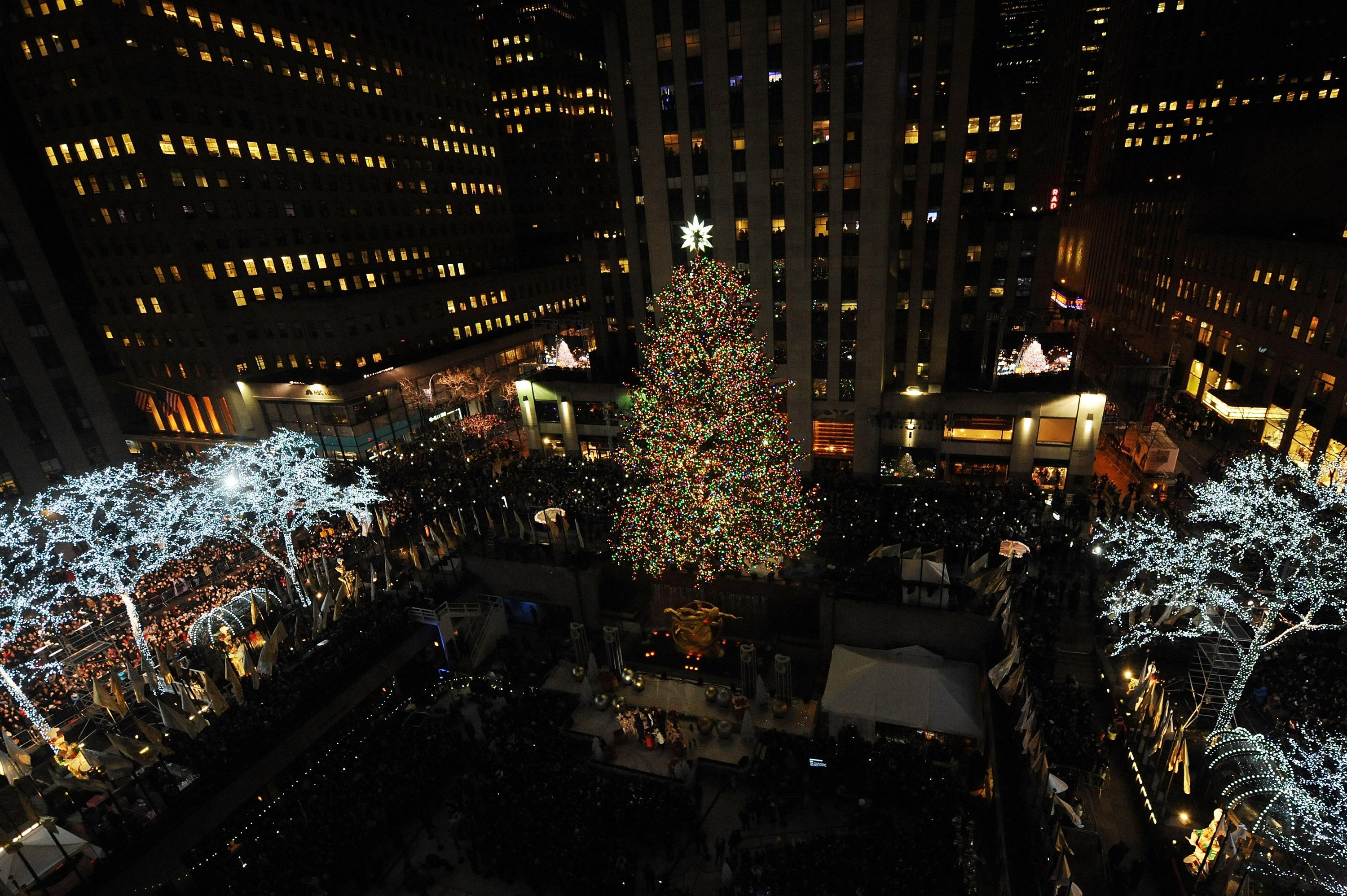 a general view of the atmosphere at the 82nd annual rockefeller christmas tree lighting ceremony at rockefeller center on dec 3 2014 in new york city - New York Christmas Tree Lighting 2014