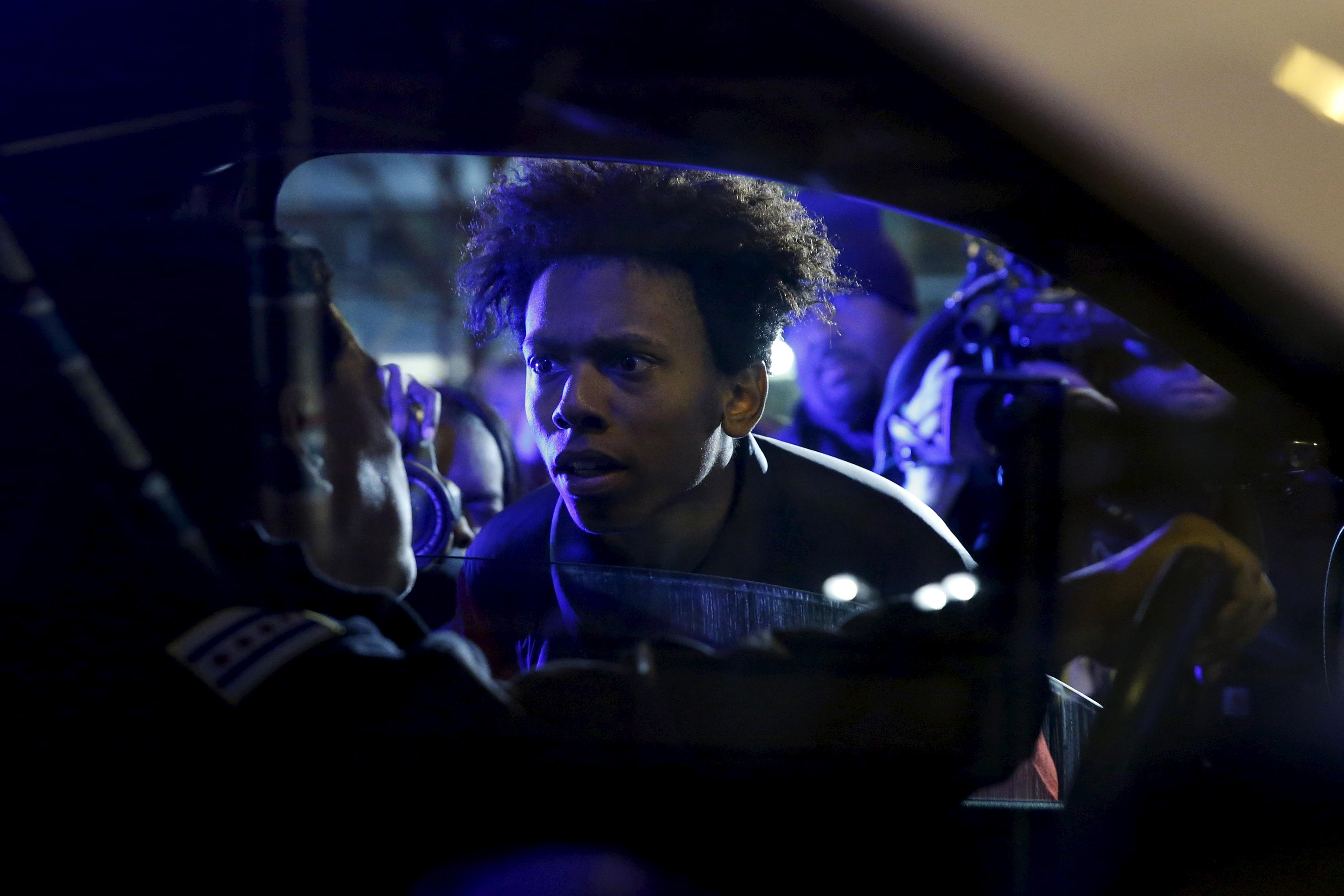 laquan mcdonald protest chiraq movie