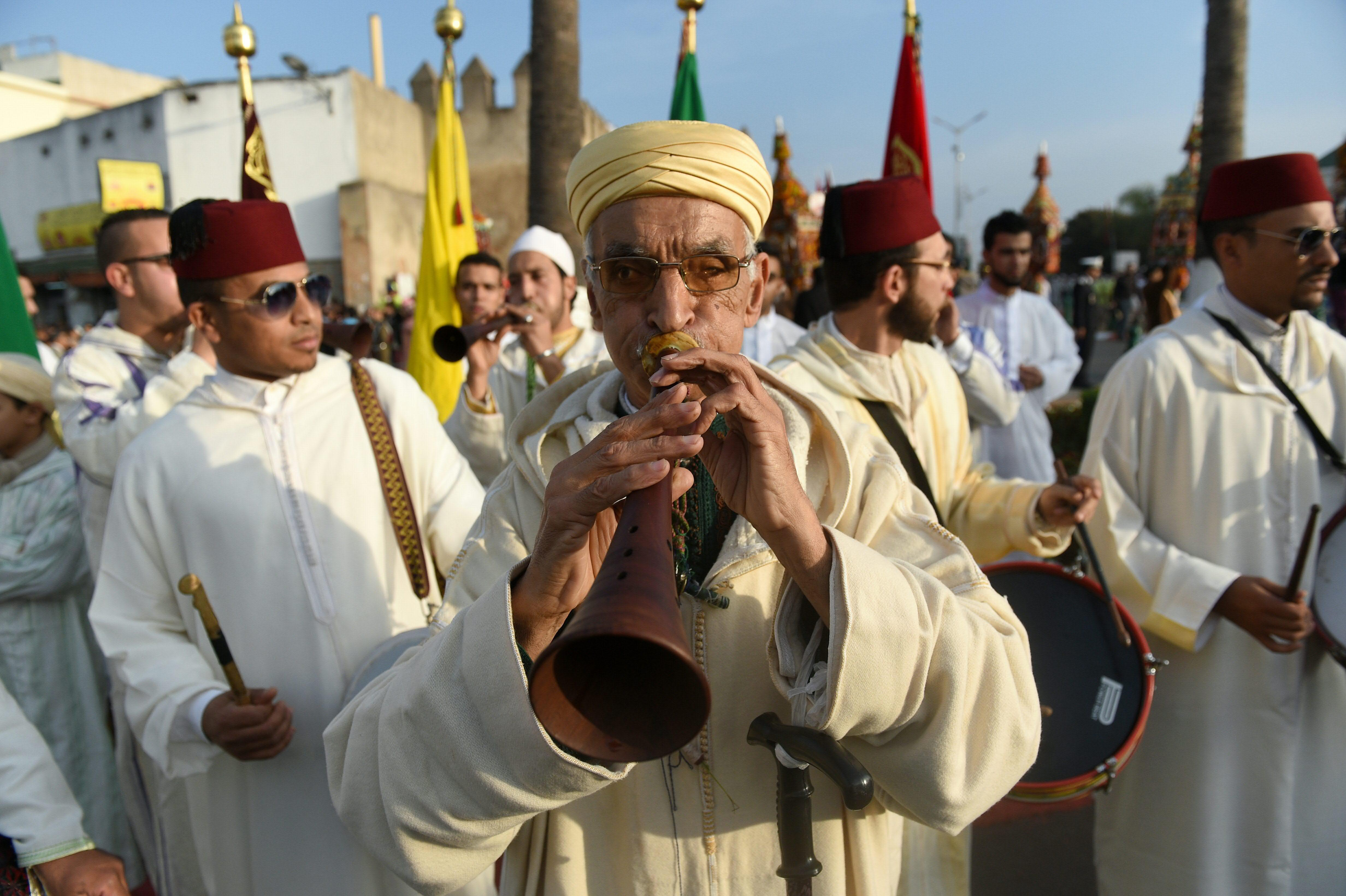 Prophet Mohammed parade in Morocco