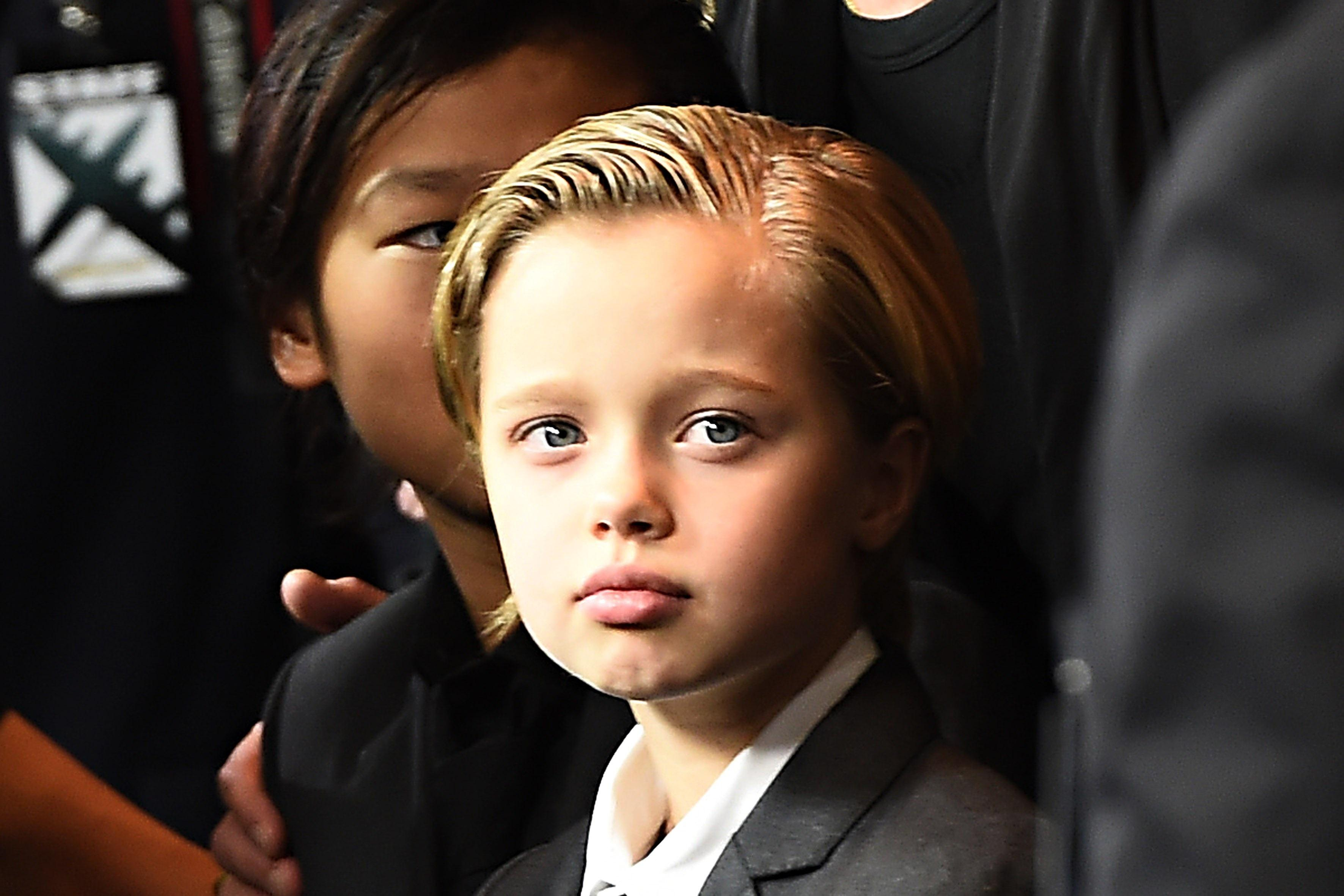 Shiloh Jolie Pitt Pictured With Angelina At Kung Fu Panda 3 Red
