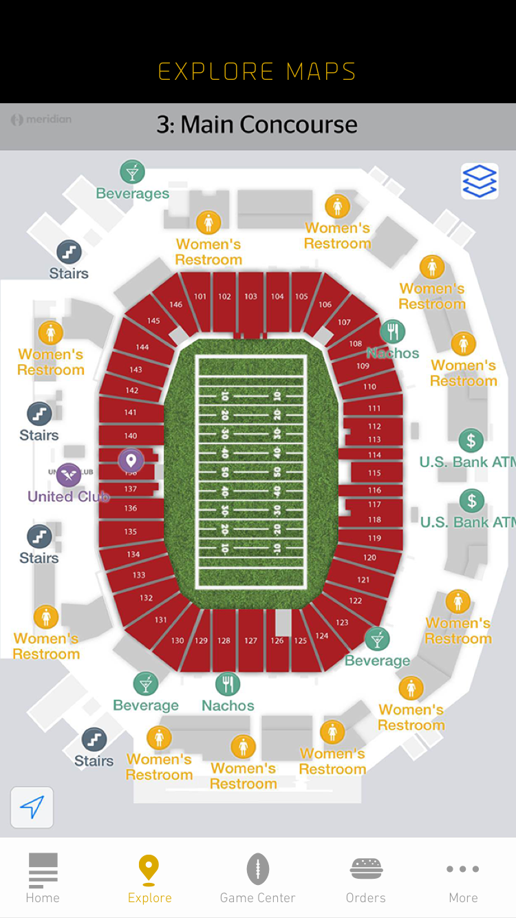 SB50 StadiumApp - Explore Maps - iPhone 6@2x