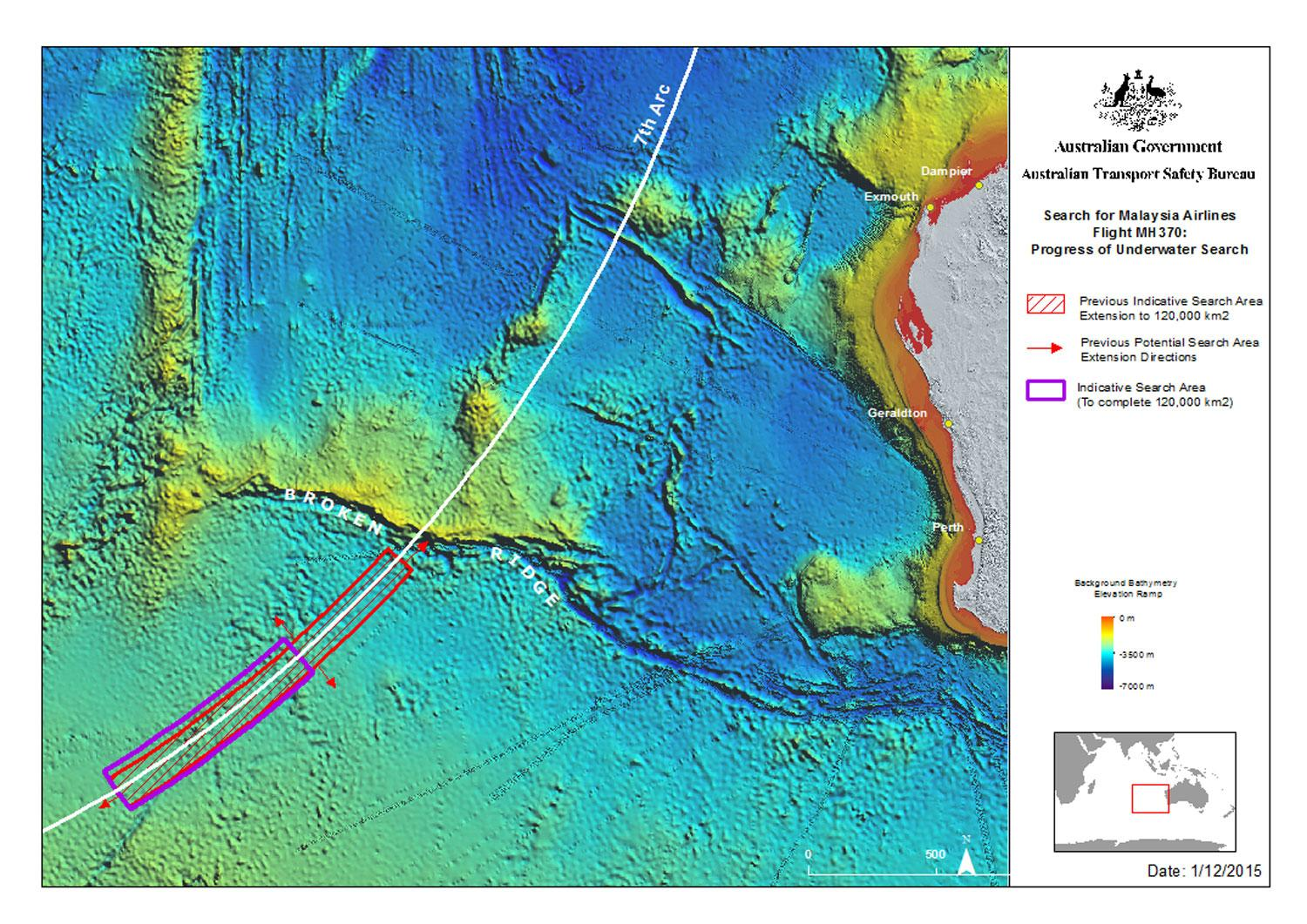 mh370 search zone