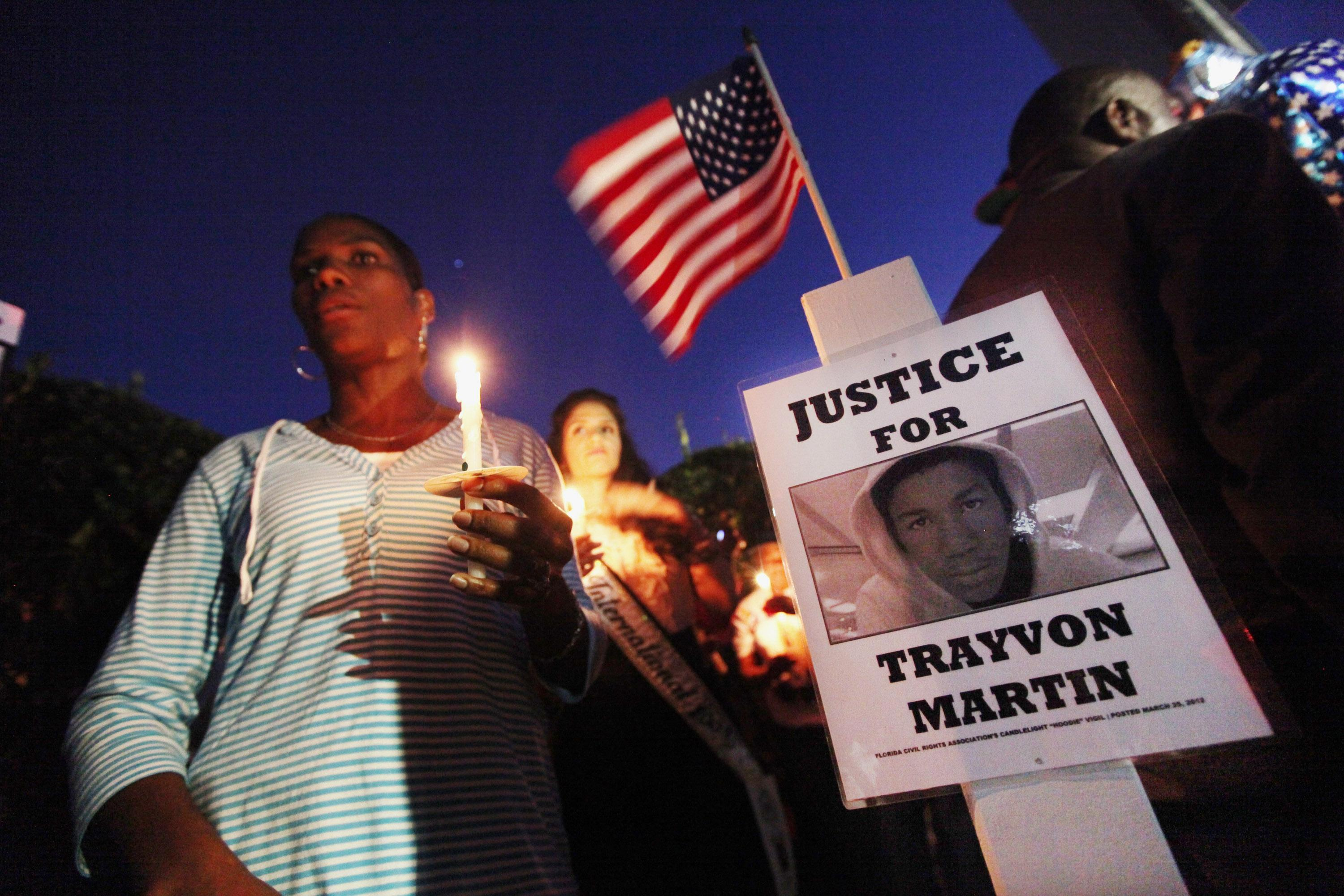 Supporters Of Trayvon Martin