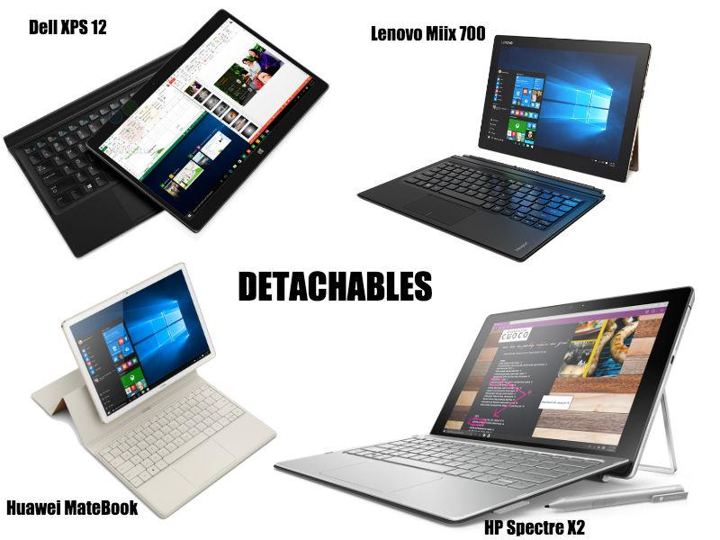 Surface Pro 4 vs Matebook vs Dell XPS 12 vs HP Spectre X2 vs Lenovo Miix 700