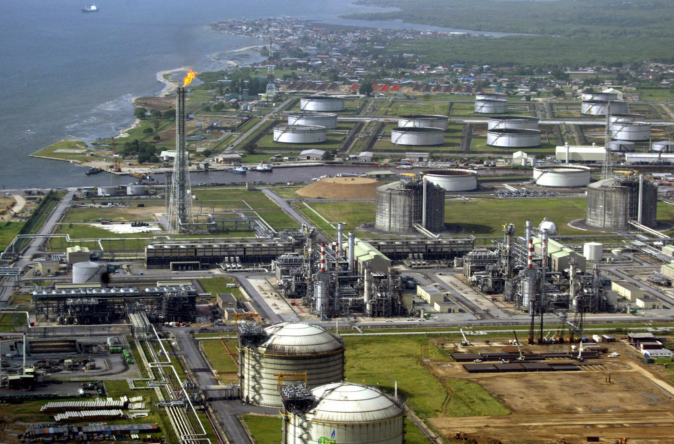 Shell oil and gas terminal in Nigeria