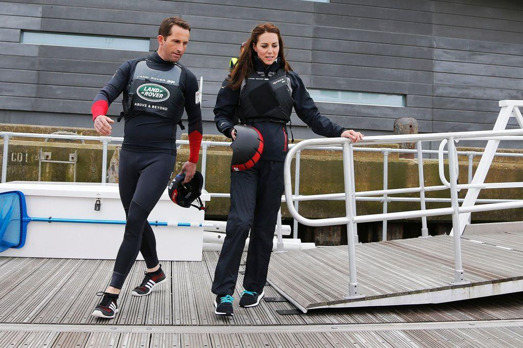 Ben Ainslie and Kate Middleton