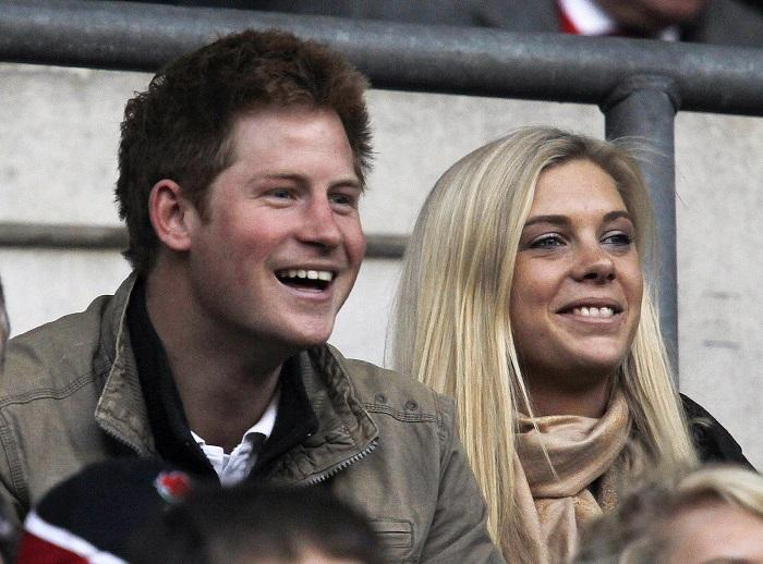 Prince Harry (L) and Chelsy Davy