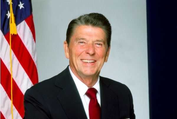 LOS ANGELES - 1980: President Ronald Reagan poses for a portrait in 1980 in Los Angeles, California.