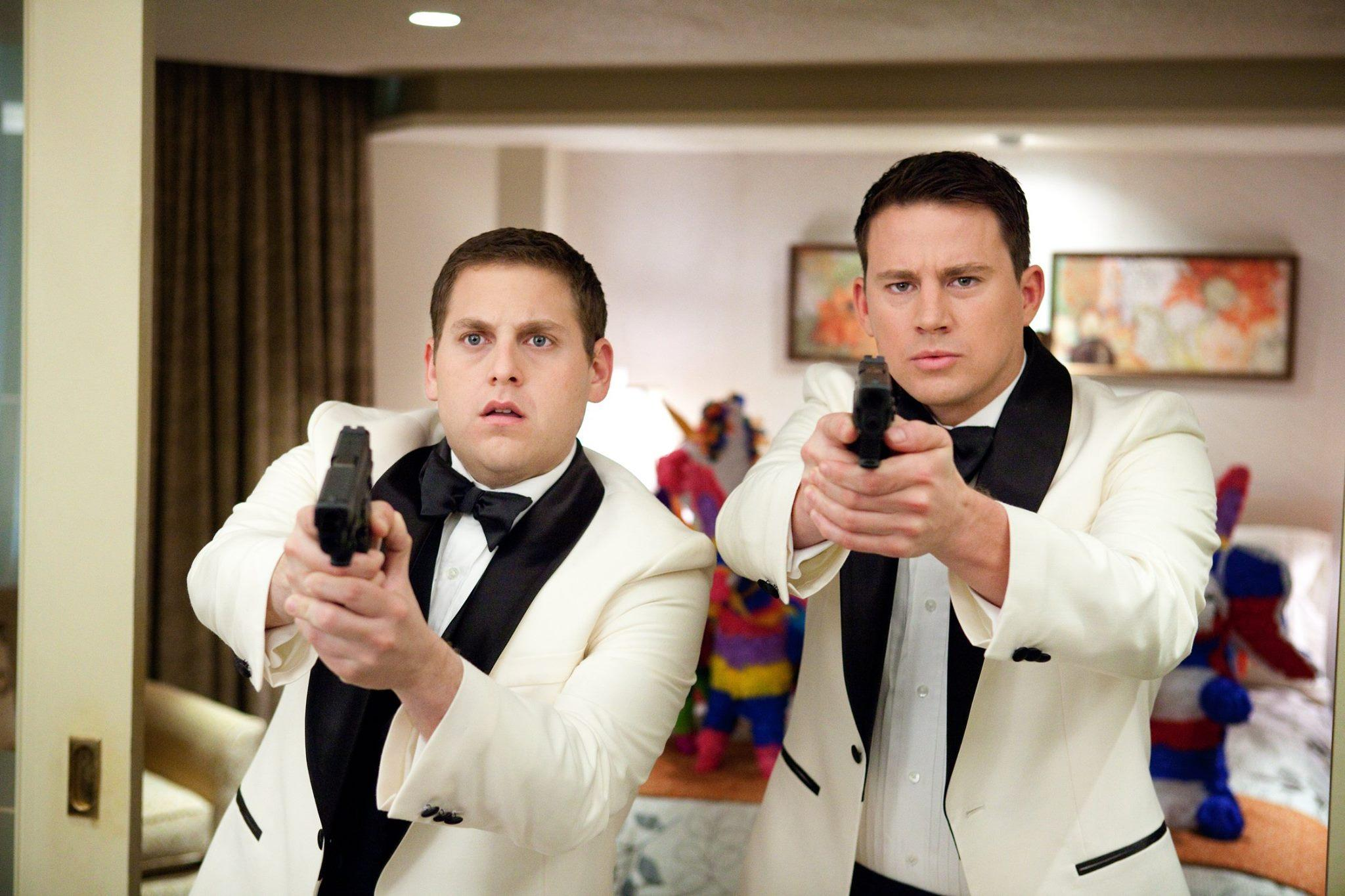 Jonah Hill as Schimdt and Channing Tatum as Jenko