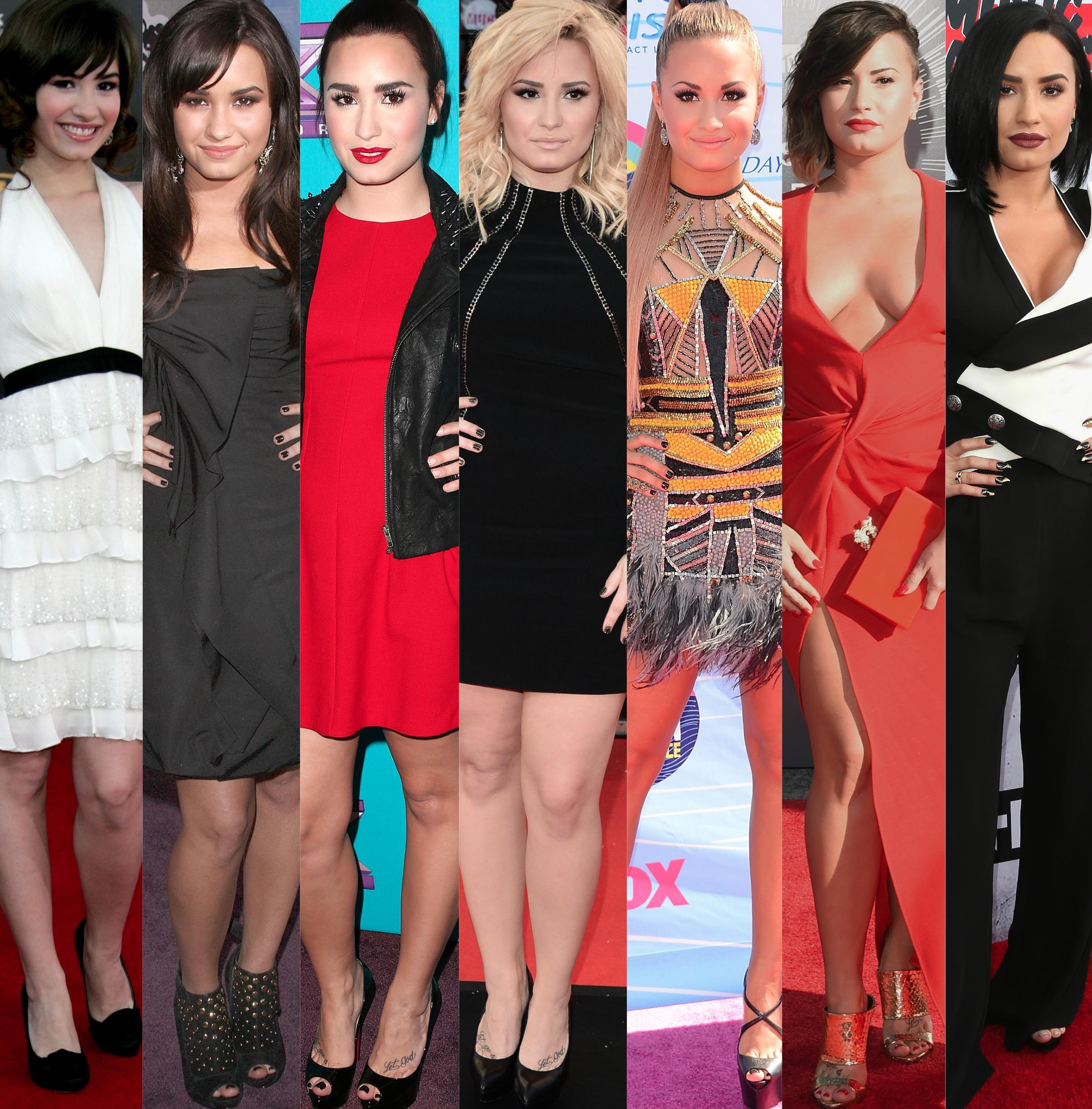 Demi Lovato Style Evolution Celebrating Singers 24th Birthday With