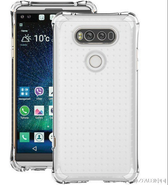 LG V20 With Transparent Case