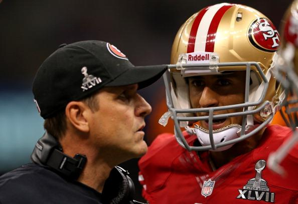 JIm Harbaugh Colin Kaepernick