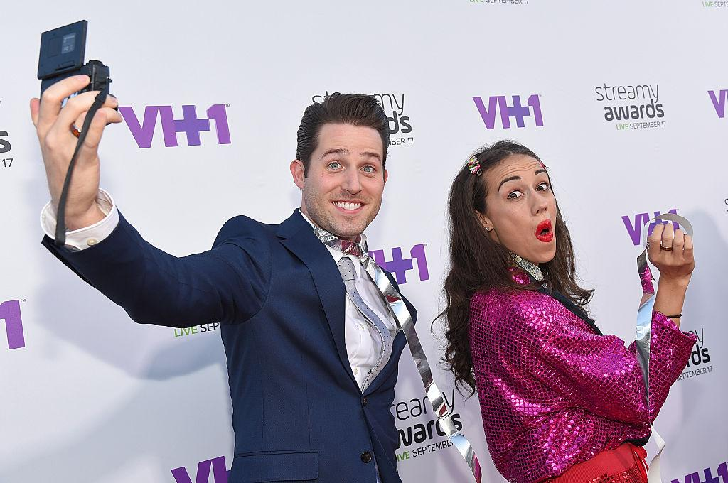Joshua Evans and Colleen Ballinger