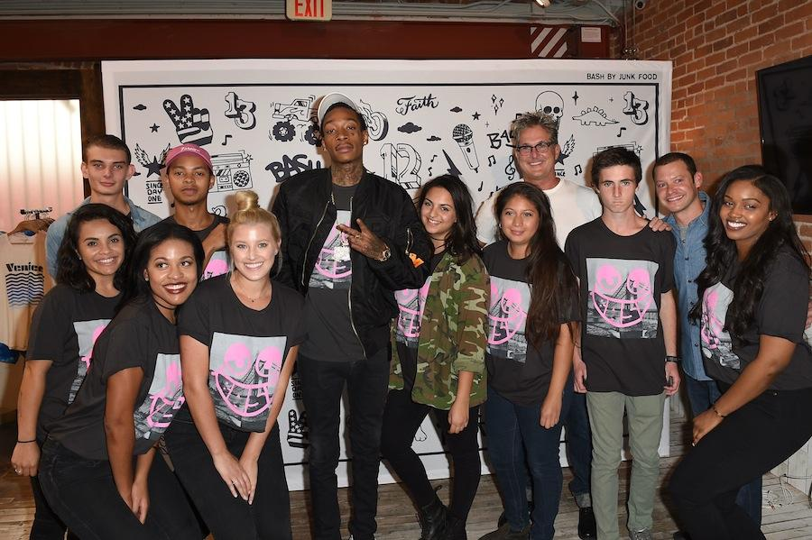 Wiz khalifa and junk food clothing team up with capsule collection bash fans had an opportunity to meet and greet black and yellow rapper wiz khalifa center at the junk food flagship store in venice m4hsunfo
